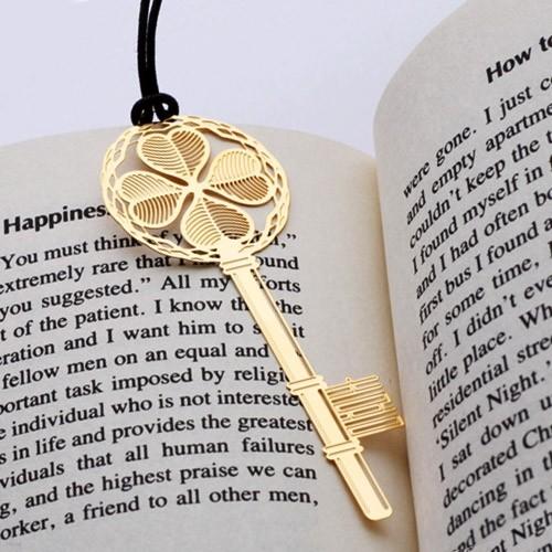 [북마크] 행운의 황금열쇠 - 18k금도금 책갈피