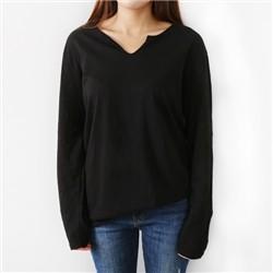 [드레스날다] 베이직 트임넥 스노우 슬라브 티셔츠(tee413)