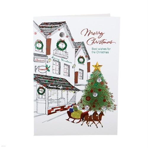 FS156-2 크리스마스카드,트리카드,산타카드,성탄...