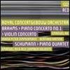 Bernard Haitink 브람스: 바이올린 협주곡, 피아노 협주곡 1번 / 슈만: 피아노 사중주 (Brahms: Piano & Violin Concertos Opp.15, 77 / Schumann: Quartet Op.47) 엠마누엘 엑스, 베르나르드 하이팅크