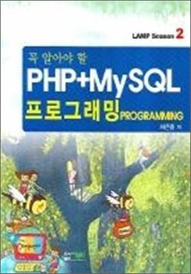 PHP + MYSQL 프로그래밍