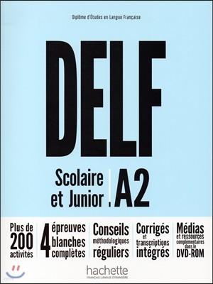 Delf Scolaire et Junior A2 (+DVD-Rom, Transcriptions et corriges)