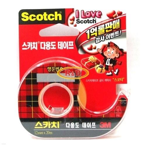 [알앤비]3M 쓰리엠 다용도 스카치테이프 12mmX20m/사무용품