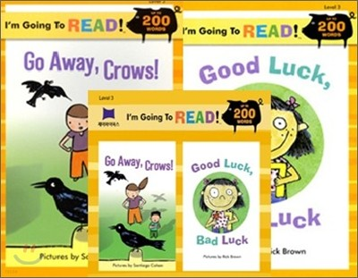 [I'm Going to READ!] Level 3 : Go Away,Crows! / Good Luck, Bad Luck (Book & CD)
