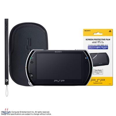 [PSP go] PSP go 본체(색상선택)+SONY 파우치+스트랩 패키지