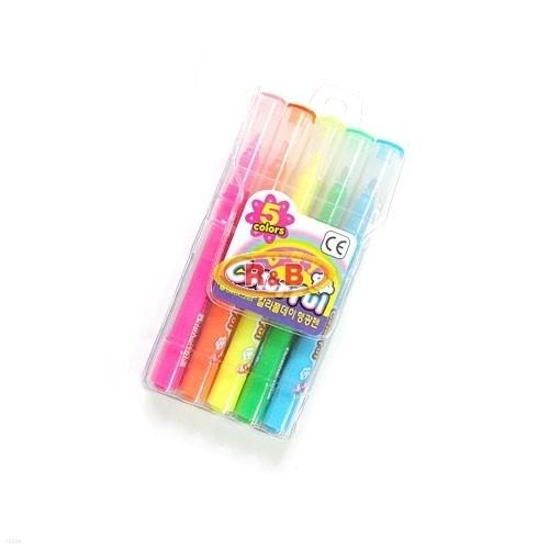 [알앤비]에버그린 칼라풀데이 5색 세트/colorful/evergreen/수성펜/형광펜