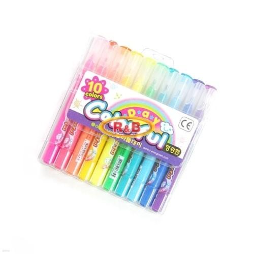 [알앤비]에버그린 칼라풀데이 10색 세트/colorful/evergreen/수성펜/형광펜