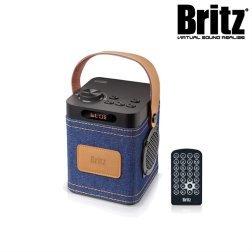 브리츠 휴대용 올인원 블루투스 스피커 BZ-C90 Denim (FM라디오 / 시계 / 알람)