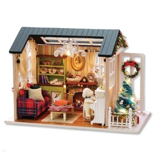 [adico] DIY 미니어처 하우스 - 레트로 크리스마...
