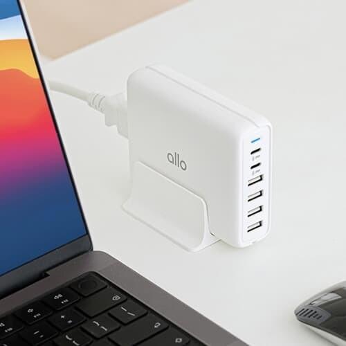 [알로코리아] 전문가용 6포트 고속 멀티충전기 퀵차지3.0 allo UC601QC3