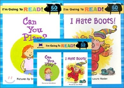 [I'm Going to READ!] Level 1 : Can You Play? / I Hate Boots! (Book & CD)