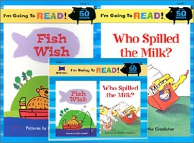 [I'm Going to READ!] Level 1 : Fish Wish / Who Spilled the Milk? (Book & CD)