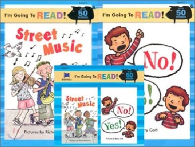 [I'm Going to READ!] Level 1 : Street Music / No! Yes! (Book & CD)