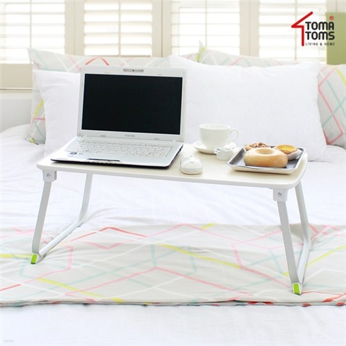 [토마톰스]와이드형 우드 티테이블겸용 노트북테이블
