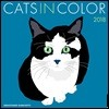 Cats in Color 2018 Wall Calendar