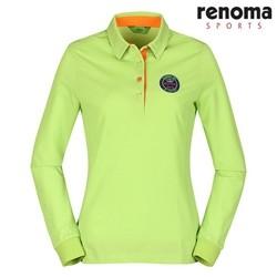 여성 심플 로고 패치 카라 티셔츠 YG (RATS65311)