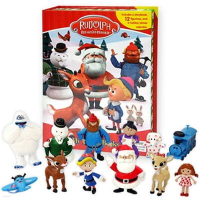[단독특가] 빨간코 사슴 루돌프 크리스마스 비지북 피규어책 Rudolph the Red-Nosed Reindeer Christmas My Busy Book