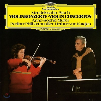Anne-Sophie Mutter 멘델스존 / 브루흐: 바이올린 협주곡 (Mendelssohn / Bruch: Violin Concerto) 안네 소피 무터, 카라얀 [LP]