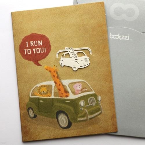 [책갈피 카드] 빈티지 여행을 떠나요  - 은장책갈피+카드+봉투