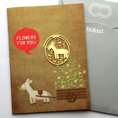 [책갈피 카드] 빈티지 망아지와 꽃마차  - 18금장책갈피+카드+봉투