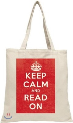 LoveLit Keep Calm Tote Bag