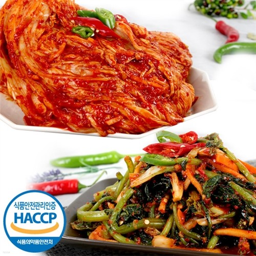 자연이 만든 해뜰 국내산 포기김치 3kg+열무김치...