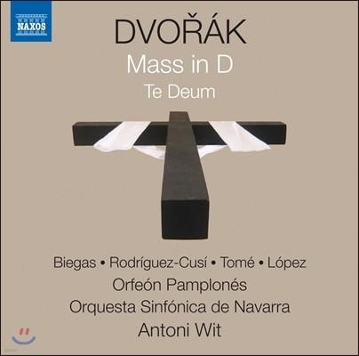 Antoni Wit / Ewa Biegas 드보르작: D장조 미사, 테 데움 (Dvorak: Mass in D Major Op.86, Te Deum Op.103) 에바 비에가스, 마리나 로드리게스-쿠지, 나바라 심포니 오케스트라, 안토니 비트