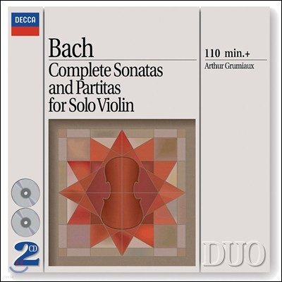 Arthur Grumiaux 바흐: 무반주 바이올린을 위한 소나타와 파르티타 (Bach: Sonatas & Partitas for solo violin, BWV1001-1006) 아르투르 그뤼미오