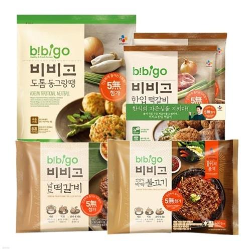 CJ 비비고 BEST 4종 모음(바싹불고기+동그랑땡+남도떡갈비+한입떡갈비)