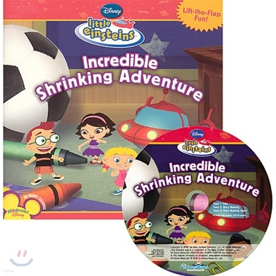 Disney Little Einsteins Early Reader Incredible Shrinking Adventure (Book + CD)