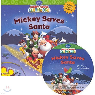 Disney Mickey Mouse Clubhouse : Mickey Saves a Santa (Book + CD)