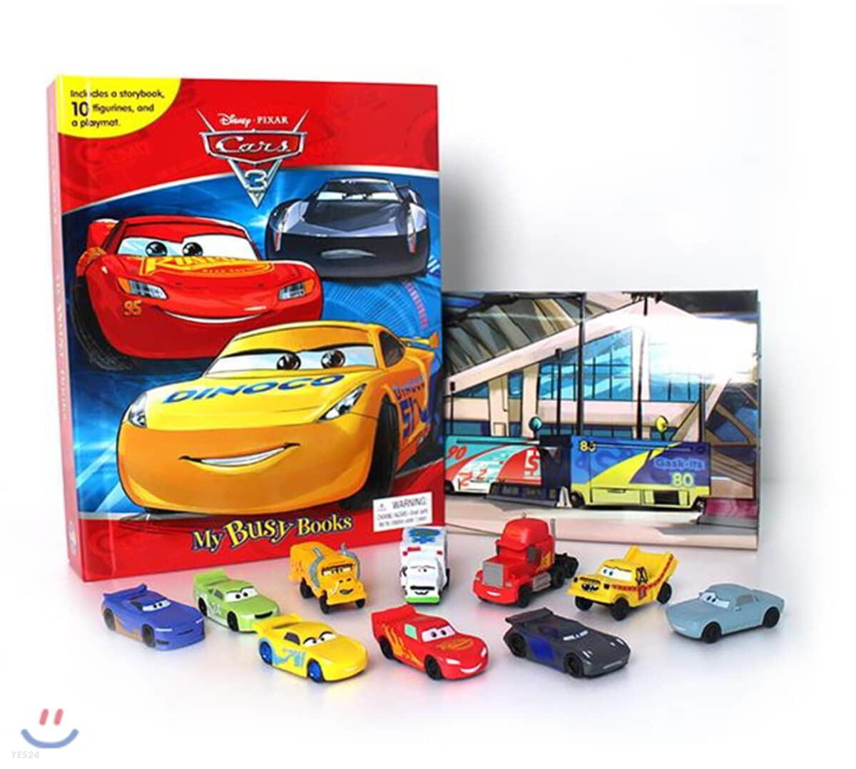 Disney Cars 3 My Busy Book 디즈니 픽사 카3 비지북
