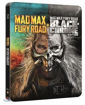 매드 맥스: 분노의 도로 블랙&크롬 에디션 (2Disc 스틸북 한정판) : 블루레이