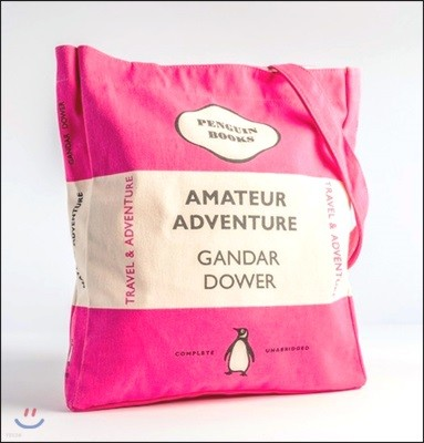 Penguin Tote Bag : Amateur Adventure (Cerise / Hot Pink) (포켓 미포함)