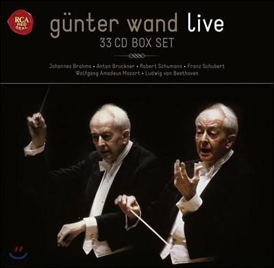 귄터 반트 라이브 레코딩스 33CD 박스세트 한정반 (Gunter Wand Live - Brahms / Bruckner / Schumann / Schubert / Mozart / Beethoven)