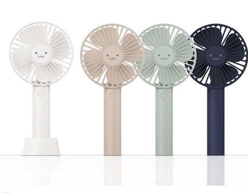 [ELECOM] 귀여운 이모티콘 디자인 휴대용 선풍기 / 탁상용 EK-FAN20