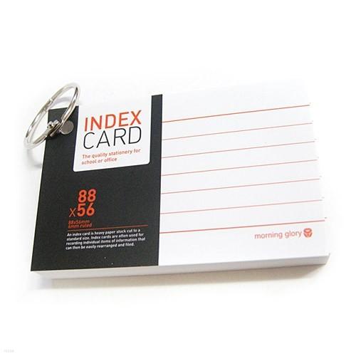 [알앤비]모닝글로리 정보카드 88x56(2개)/index card 88x56/단어장/암기장/X2개