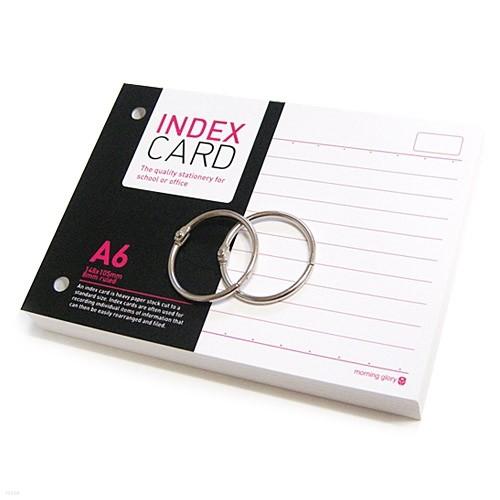 [알앤비]모닝글로리 정보카드 A6/index card A6/단어장/암기장