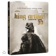 킹 아서:제왕의 검 (2Disc 2D+3D 스틸북 한정수량) : 블루레이