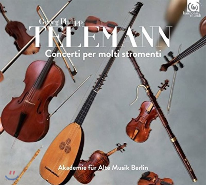Akademie fur Alte Musik Berlin 텔레만: 다수의 악기를 위한 협주곡집 - 베를린 고음악 아카데미 (Telemann: Concerti per Molti Stromenti [Concertos for Multiple Instruments])