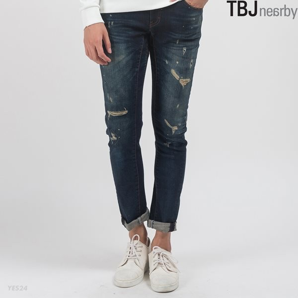 [TBJ] 유니 바이커 M톤 구제 데님 BL (T155DP253M)
