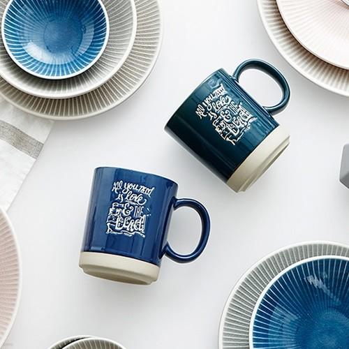 [한샘] 딥그린&블루 머그컵 2P