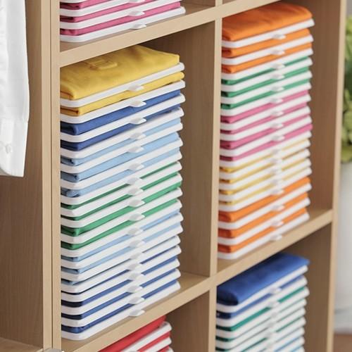 [마이티앤트레이] 깔끔한 옷장을 위한 옷정리 트레이 + 폴더 30set