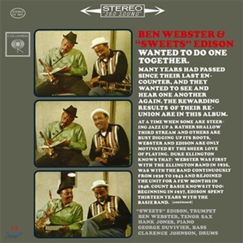 "Ben Webster & ""Sweets"" Edison (벤 웹스터 & 스위츠 에디슨) - Ben Webster & ""Sweets"" Edison [2 LP]"