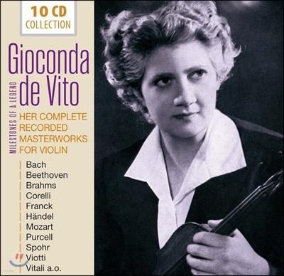 Gioconda De Vito 바이올린의 전설, 지오콘다 데 비토 - 오리지널 앨범 컬렉션 (Her Complete Recorded Masterworks)