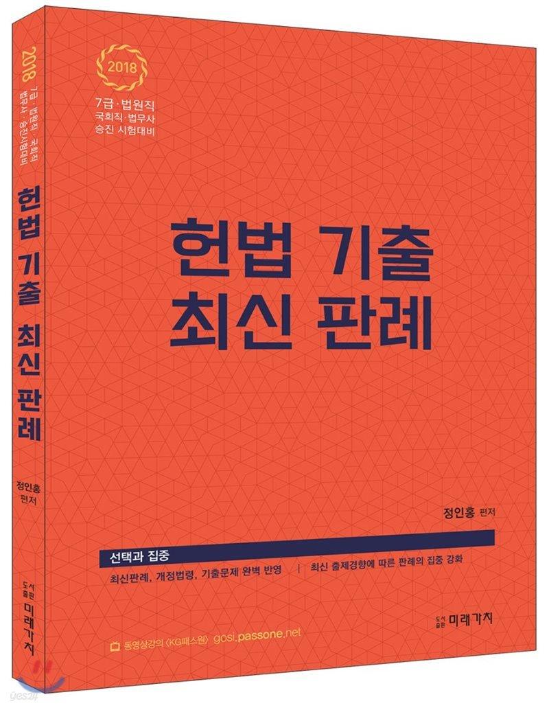 2018 정인홍 헌법 기출 최신판례