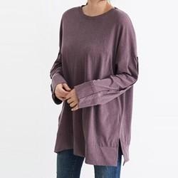 [드레스날다] 피노 소매 단추 루즈핏 티셔츠(tee560)