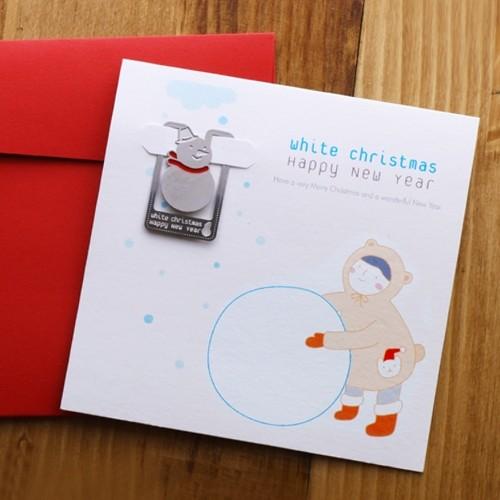 [크리스마스 카드] 눈사람과 소녀 - 성탄절에는 주위분들에게 카드를 보내보세요~