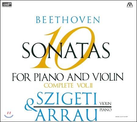 Joseph Szigeti 베토벤: 바이올린 소나타 전곡 2집 - 요제프 시게티, 클라우디오 아라우 (Beethoven: 10 Sonatas for Piano and Violin Complete Vol.II)