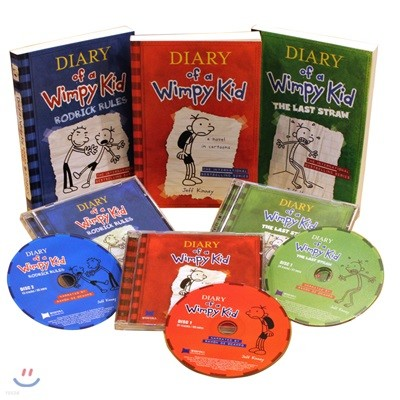 Diary of a Wimpy Kid #1-3 (Book & CD)